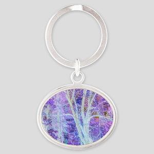 The Dancing Tree Oval Keychain