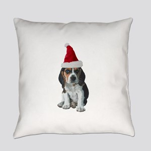 Christmas Beagle Everyday Pillow
