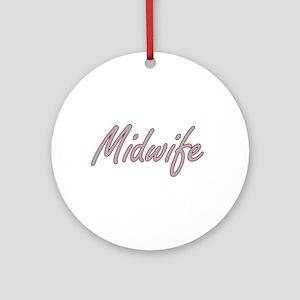 Midwife Artistic Job Design Ornament (Round)