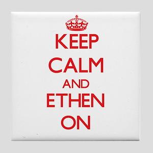 Keep Calm and Ethen ON Tile Coaster