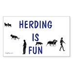 Herding Fun Rectangle Sticker