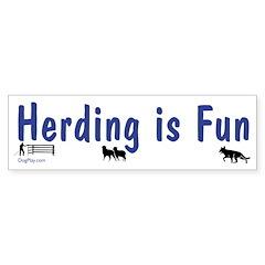 Herding Fun Bumper Bumper Sticker