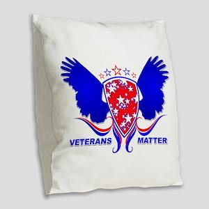 VETERANS MATTER Burlap Throw Pillow