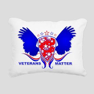 VETERANS MATTER Rectangular Canvas Pillow