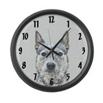 Australian Cattle Dog Large Wall Clock