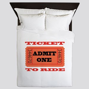 Ticket To Ride Queen Duvet