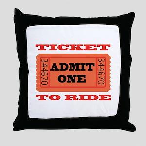 Ticket To Ride Throw Pillow