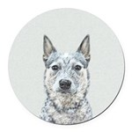 Australian Cattle Dog Round Car Magnet