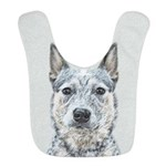 Australian Cattle Dog Polyester Baby Bib