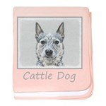 Australian Cattle Dog baby blanket
