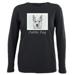 Australian Cattle Dog Plus Size Long Sleeve Tee