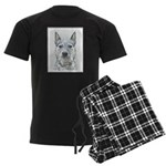 Australian Cattle Dog Men's Dark Pajamas
