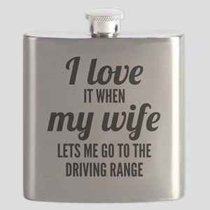 When My Wife Lets Me Go To The Driving Range Flask