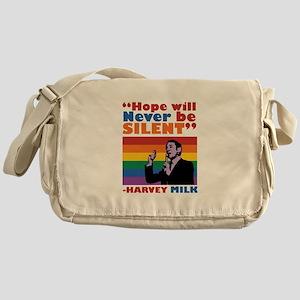 Hope Will Never Be Silent Messenger Bag