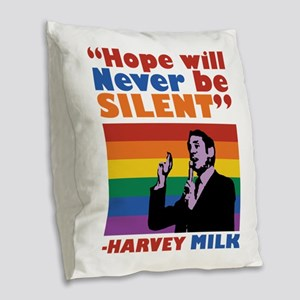 Hope Will Never Be Silent Burlap Throw Pillow