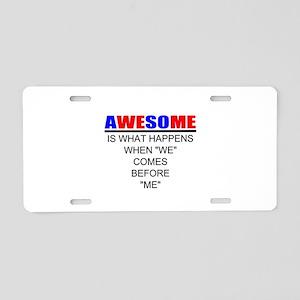 Inspiration Aluminum License Plate