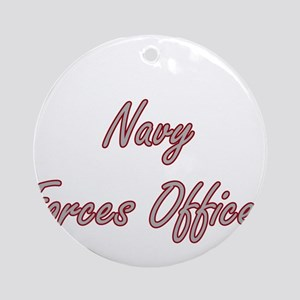 Navy Forces Officer Artistic Job Ornament (Round)