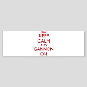 Keep Calm and Gannon ON Bumper Sticker