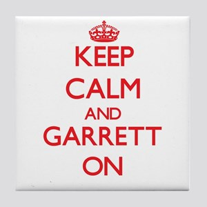 Keep Calm and Garrett ON Tile Coaster