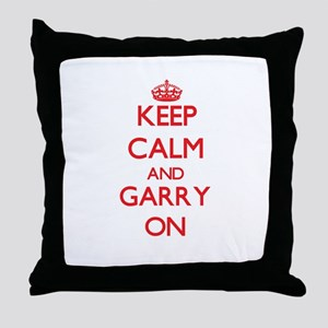 Keep Calm and Garry ON Throw Pillow