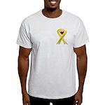 I Am Proud Of My Son Yellow Ribbon Ash Grey T-Shir