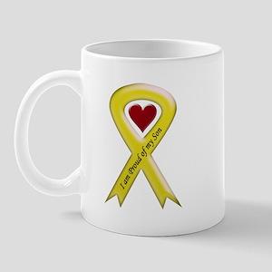 I Am Proud Of My Son Yellow Ribbon Mug