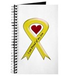 I Am Proud Of My Son Yellow Ribbon Journal