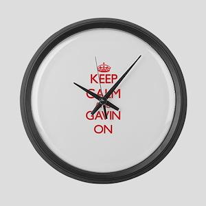 Keep Calm and Gavin ON Large Wall Clock