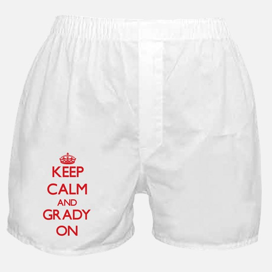 Keep Calm and Grady ON Boxer Shorts