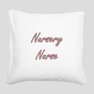 Nursery Nurse Artistic Job De Square Canvas Pillow