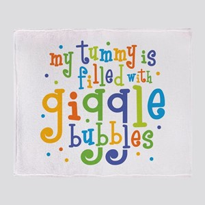 Giggle Bubbles Throw Blanket