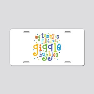 Giggle Bubbles Aluminum License Plate