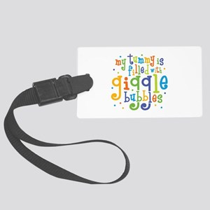 Giggle Bubbles Large Luggage Tag