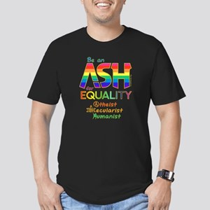 Be an ASH for Equality Men's Fitted T-Shirt (dark)