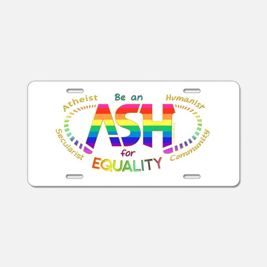 Be an ASH (oval) Aluminum License Plate