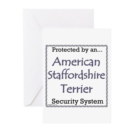 Am Staff Security Greeting Cards (Pk of 10)