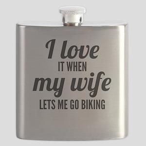 When My Wife Lets Me Go Biking Flask