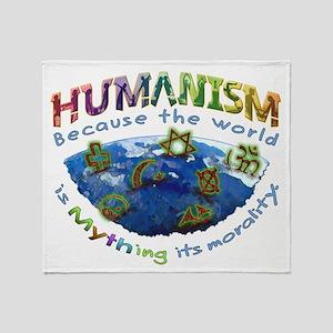 Humanism vs Myth Throw Blanket