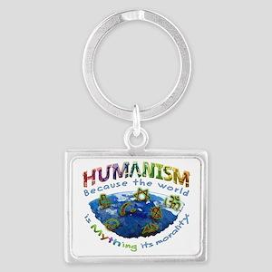 Humanism vs Myth Landscape Keychain