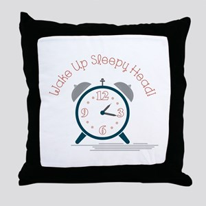 Wake up sleepy head Throw Pillow