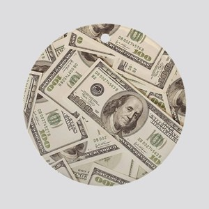 Dollar Bills Ornament (Round)