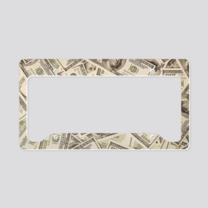 Dollar Bills License Plate Holder