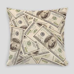 Dollar Bills Everyday Pillow
