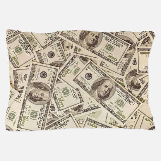 Dollar Bills Pillow Case