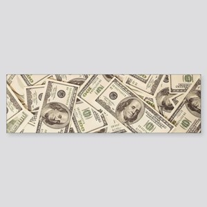 Dollar Bills Bumper Sticker