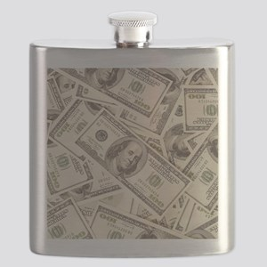 Dollar Bills Flask