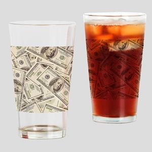 Dollar Bills Drinking Glass