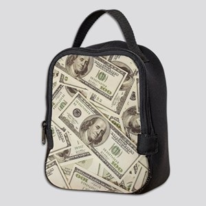 Dollar Bills Neoprene Lunch Bag