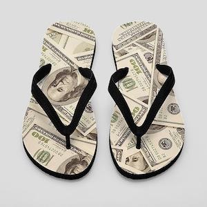Dollar Bills Flip Flops