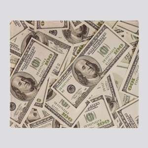 Dollar Bills Throw Blanket